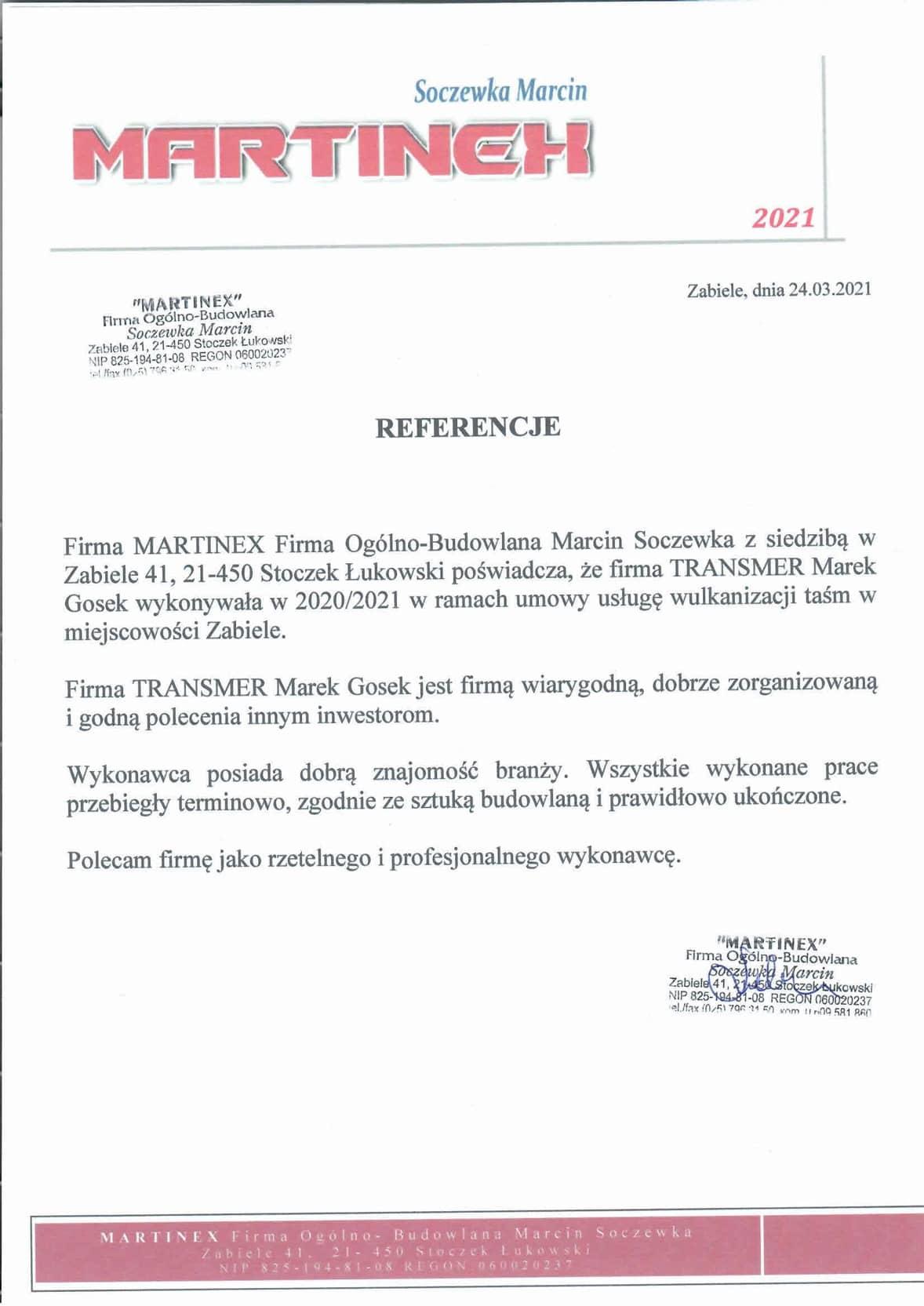 Referencje-Martinex